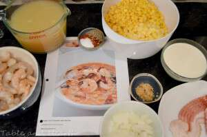 1 shrimp and corn chowder