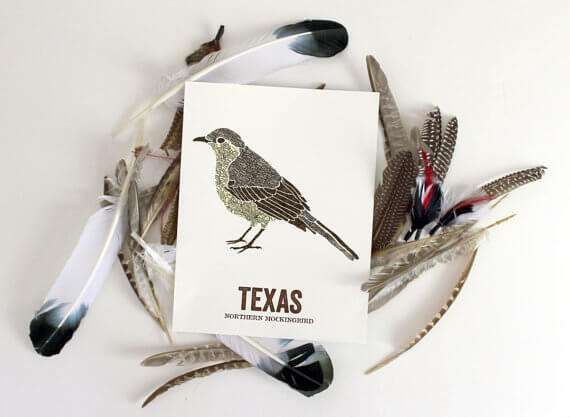 Enter to win a custom state bird print from the Wooden Pencil Co.!