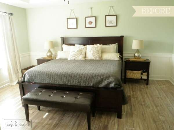 Light, calm, and coastal master bedroom in the One Room Challenge!