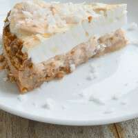 Yum!! The perfect summery pie, with sweet coconut and a slight zing of grapefruit juice all in a buttery crumb crust!