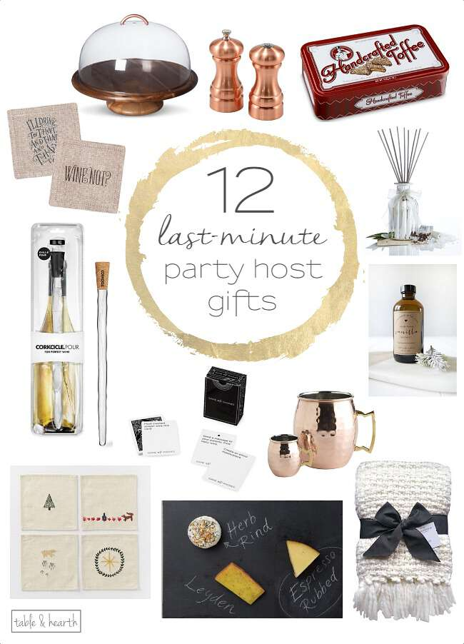 Struggling with what to bring for the party host? Here are 12 easy, last-minute ideas to help!