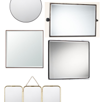 20 big, beautiful, and unique mirrors for your bathroom vanity. www.tableandhearth.com