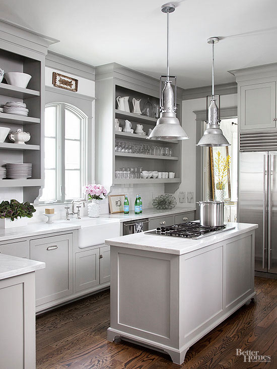 12 Gorgeous And Bright Light Gray Kitchens Table Hearth