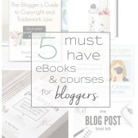 Every blogger should have these five AMAZING eBooks/courses in their arsenal! www.tableandhearth.com