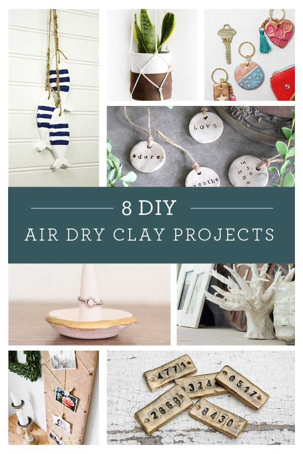 8 AMAZING things to do with Air Dry Clay!!!