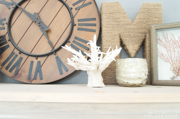 How to DIY Faux Coral - Using air dry clay, it's easy to form your own coral sculpture to use in your coastal home decor! www.tableandhearth.com