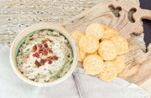 MESQUITE-SMOKED JALAPENO TUNA DIP - This easy to make dip is packed with tons of flavor and is perfect for a snack, for lunch, or for your next get together! www.tableandhearth.com