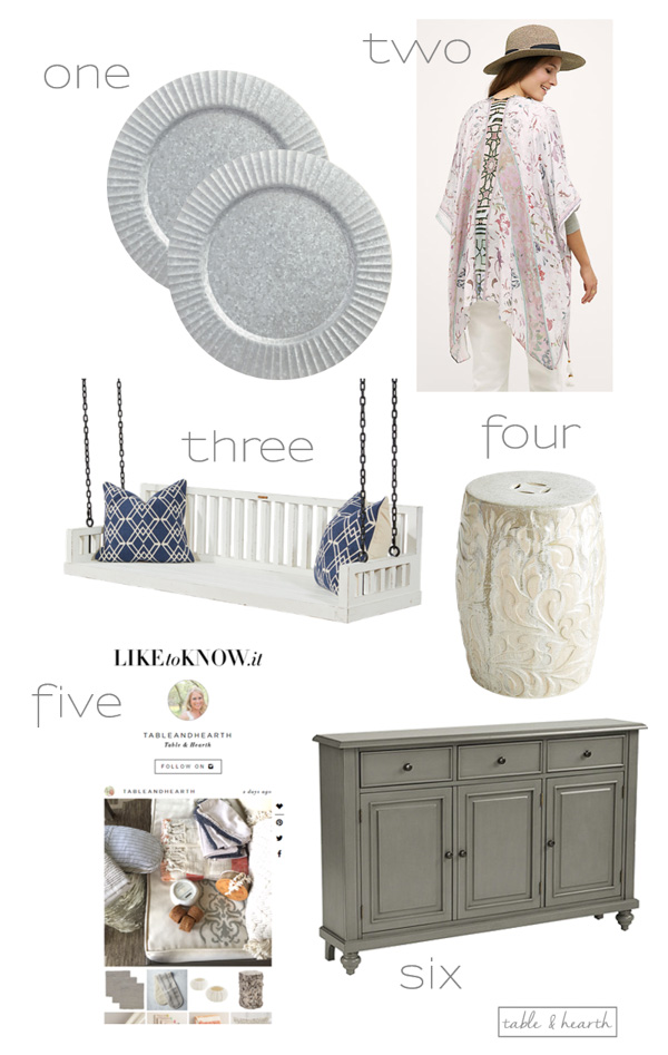 Six of my favorite finds from around the web lately! www.tableandhearth.com
