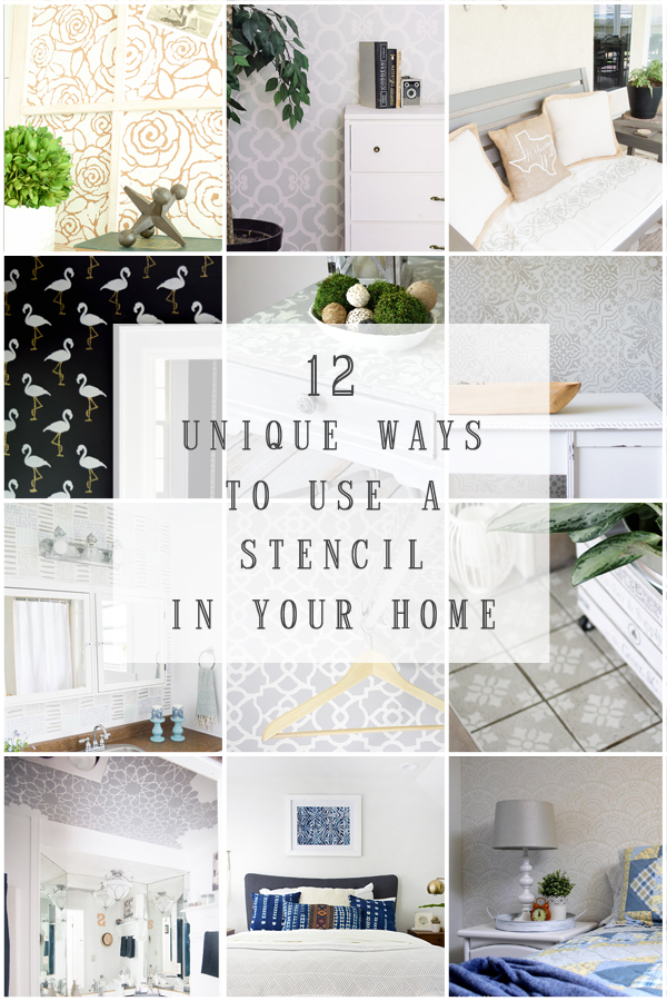 12 AWESOME ways to use stencils in your home!! See the creative ways these bloggers used Royal Design Studio Stencils to update a space in their home! www.tableandhearth.com