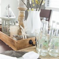Coastal Farmhouse Table Setting - A beautiful dining room update with neutral rustic decor found at Pier 1! www.tableandhearth.com