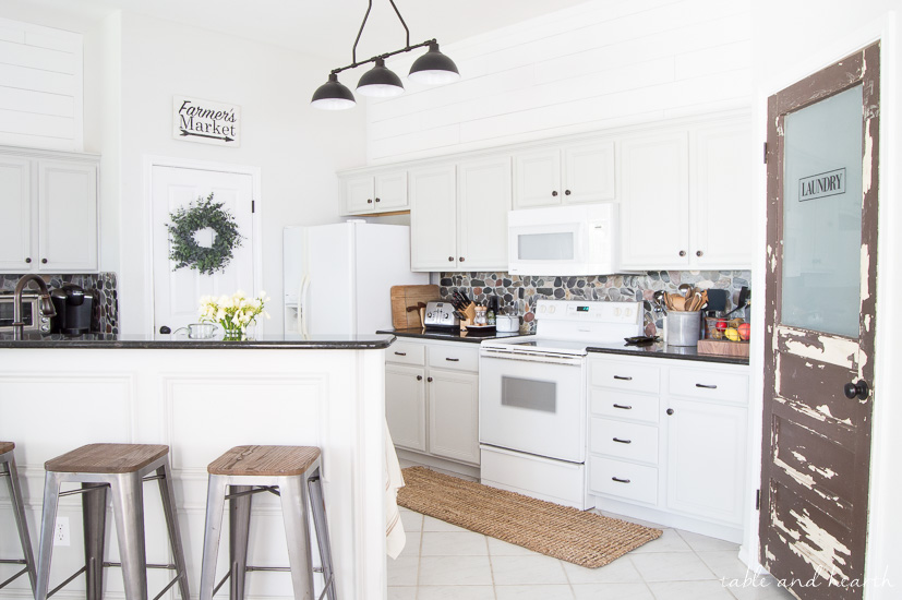 White shiplap above cabinets 2