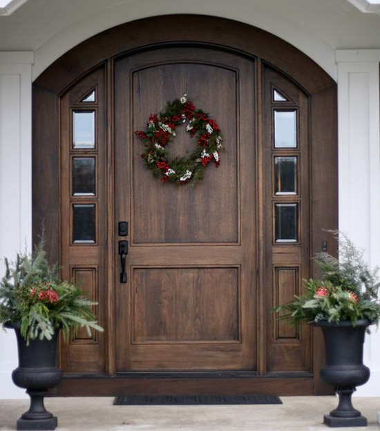 20 Front Door Ideas: 20 Beautifully Classic Farmhouse Stained Wood Doors