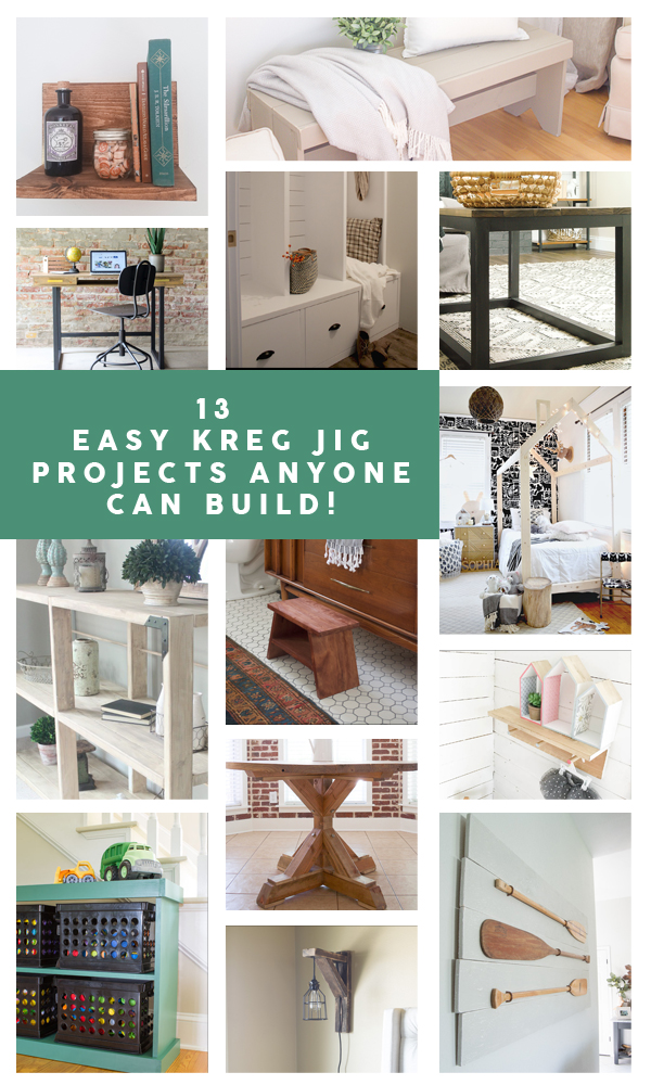13 Easy Kreg Jig Projects Anyone Can Build! #kregjig #pockethole