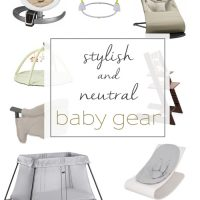 Home decor-friendly, stylish, and neutral baby gear! www.tableandhearth.com