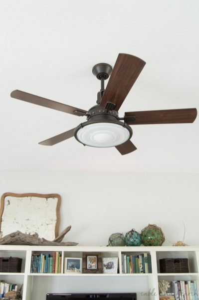 12 GORGEOUS coastal ceiling fans! www.tableandhearth.com