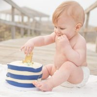 First birthday beach smash cake photo shoot!