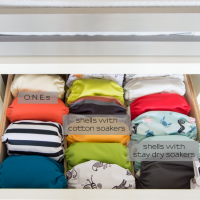 Cloth diapering can be easy with the right cloth diaper storage system!